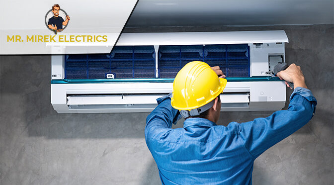 Safety Measures Followed by Technicians in an AC Installation Service